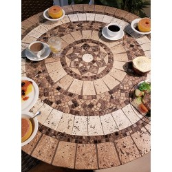 Canyon Mosaic Table Top - Lifestyle