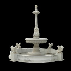Marble Fish Fountain with Dragon Basin