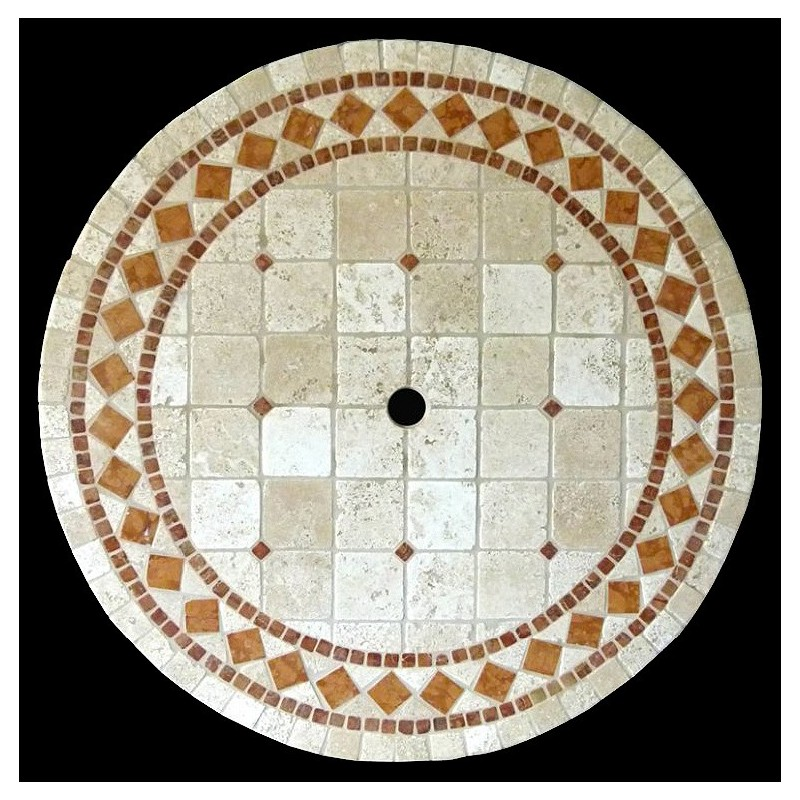 Belair Verone Mosaic Table Top - Shown with Optional Umbrella Hole