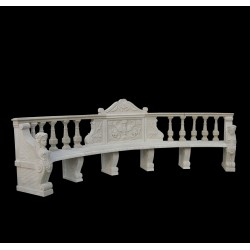 Marble Caryatid Classical Bench