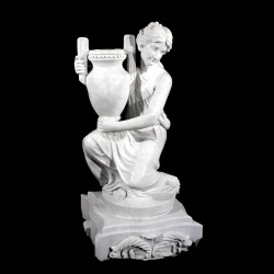 Marble Lady holding Urn Sculpture (Right)