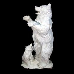 Marble Standing Bear & Cub...
