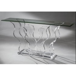 Flame Acrylic Console Table (with or without top)