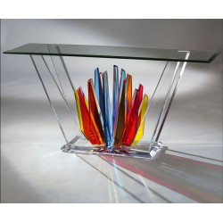 Starburst Acrylic Dining Table 12 Color Options (with or without top)