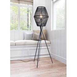 Caged Light Floor Lamp Black