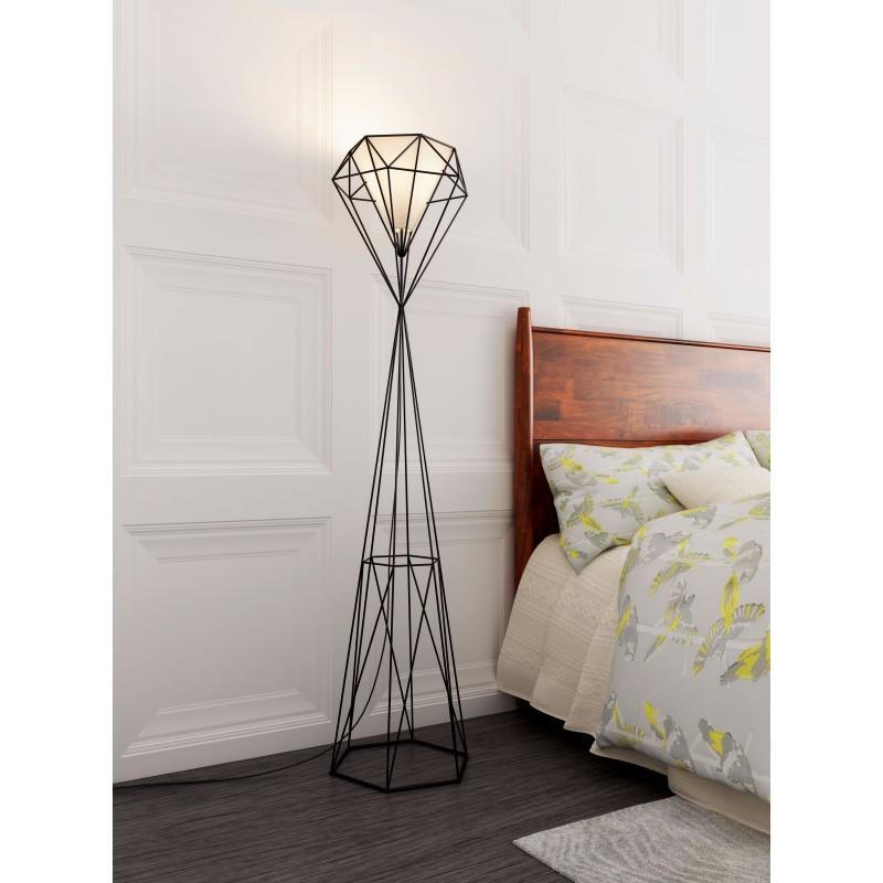 Diamond Floor Lamp Black