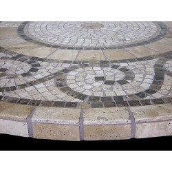Grecia Mosaic Table Top - Side View
