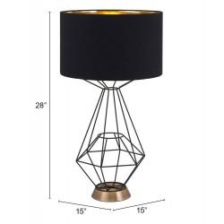 Diamond Table Lamp - Black