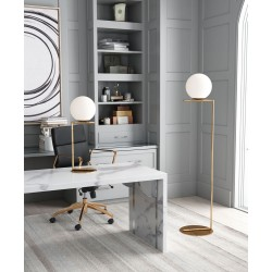 Round Globe Floor and Table Lamp Frosted Glass