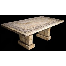 Ramses Mosaic Table Top - Shown with Optional Mating Pompeii Table Base Set