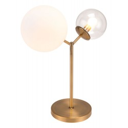 Frosted & Clear Table Lamp - Gold