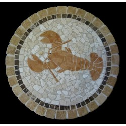 Lobster Mosaic Table Top