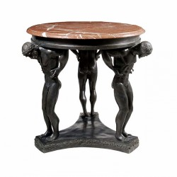 Bronze Man Table Base Sculpture with or without Marble