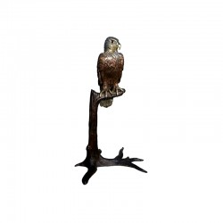 Bronze Bird on Branch Sculpture
