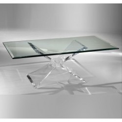 Butterfly Shape Acrylic Coffee Table Base (with or without top)