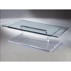 Floating Acrylic Coffee Table Base (with or without top)