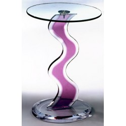 Violet Wave Acrylic Occasional Table