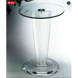 Clear and Crystallized V Shape Acrylic Occasional Table