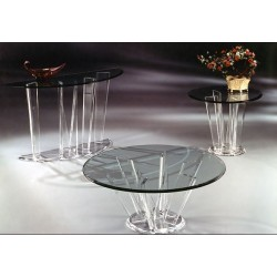 Quest Round Acrylic End Table Base (with or without top)