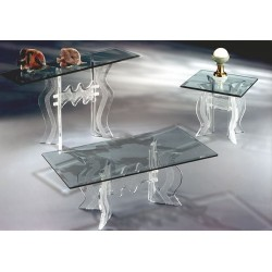 Crystallized Wave Acrylic Coffee Table Base (with or without top)