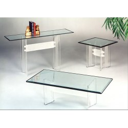 Crystallized Scallop Acrylic Coffee Table Base (with or without top)