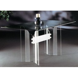 Crystallized Scallop Acrylic Dining Table (with or without top)