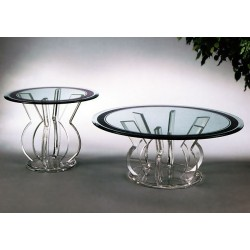 Persia Acrylic End Table Base (with or without top)