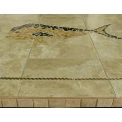 Mahi Mahi Mosaic Table Top - Side View