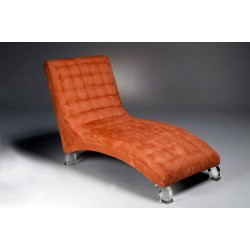 Chaise Lounger with Acrylic Legs and Fabric Options