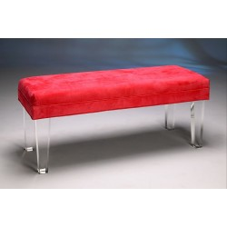 Acrylic Straight Bench with Fabric Choices