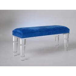 Acrylic Classic Bench with Fabric Choices
