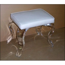 Acrylic Vanity Bench with Fabric Choices