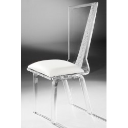 Acrylic Miami Dining Chair with Fabric Choices