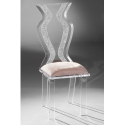 Acrylic Monte Carlo Dining Chair with Fabric Choices