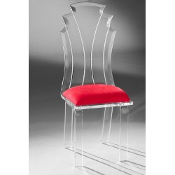 Acrylic Ember Dining Chair with Fabric Choices