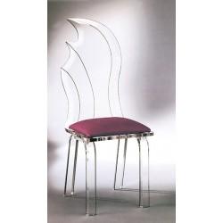 Acrylic Moon Dining Chair with Fabric Choices