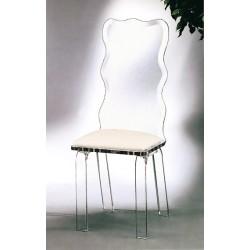 Acrylic Crystal Dining Chair with Fabric Choices