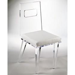 Acrylic Richard Dining Chair with Fabric Choices
