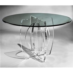 Olinda Acrylic Dining Table (with or without top)
