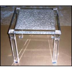 Crystallized Acrylic End Table