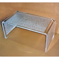 Crystallized Acrylic Waterfall Table