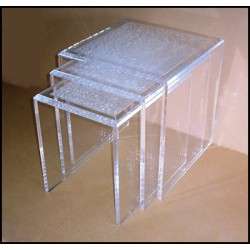 Acrylic Crystallized Nesting Tables