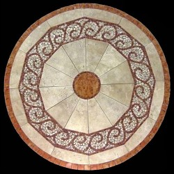 Claredon Mosaic Table Top - Round Shape