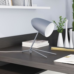 Perfect Profile Matte Gray Table Lamp