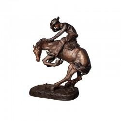 Bronze Remington 'Rattlesnake' Life-size Sculpture