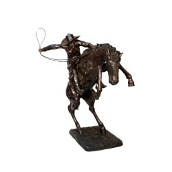 Bronze Frederick Remington Bronco Buster Large Sculpture
