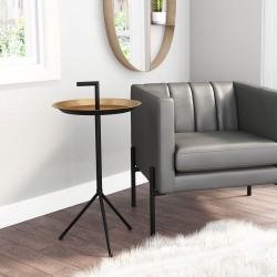 Tray Gold & Black Accent Table