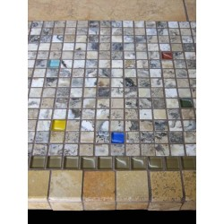 Elea Mosaic Table Top - Side View
