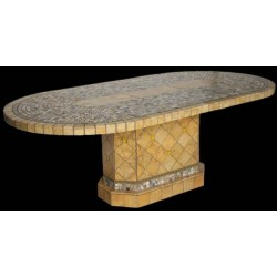 Elea Mosaic Table Top with Optional Matching Mosaic Table Base