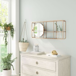 Brooklyn Gold Mirror with Shelves